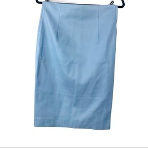 Zara Woman Baby Blue leather Pencil skirt Small